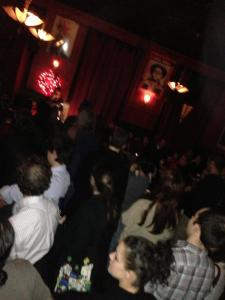 An enthusiastic crowd packs the KGB Bar in NYC for the KTA Launch Reading on December 18, 2012.